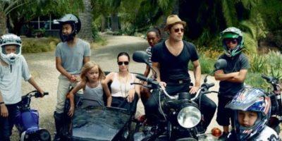 Familia Pitt-Jolie. Foto:Vogue Magazine/Annie Leibovitz