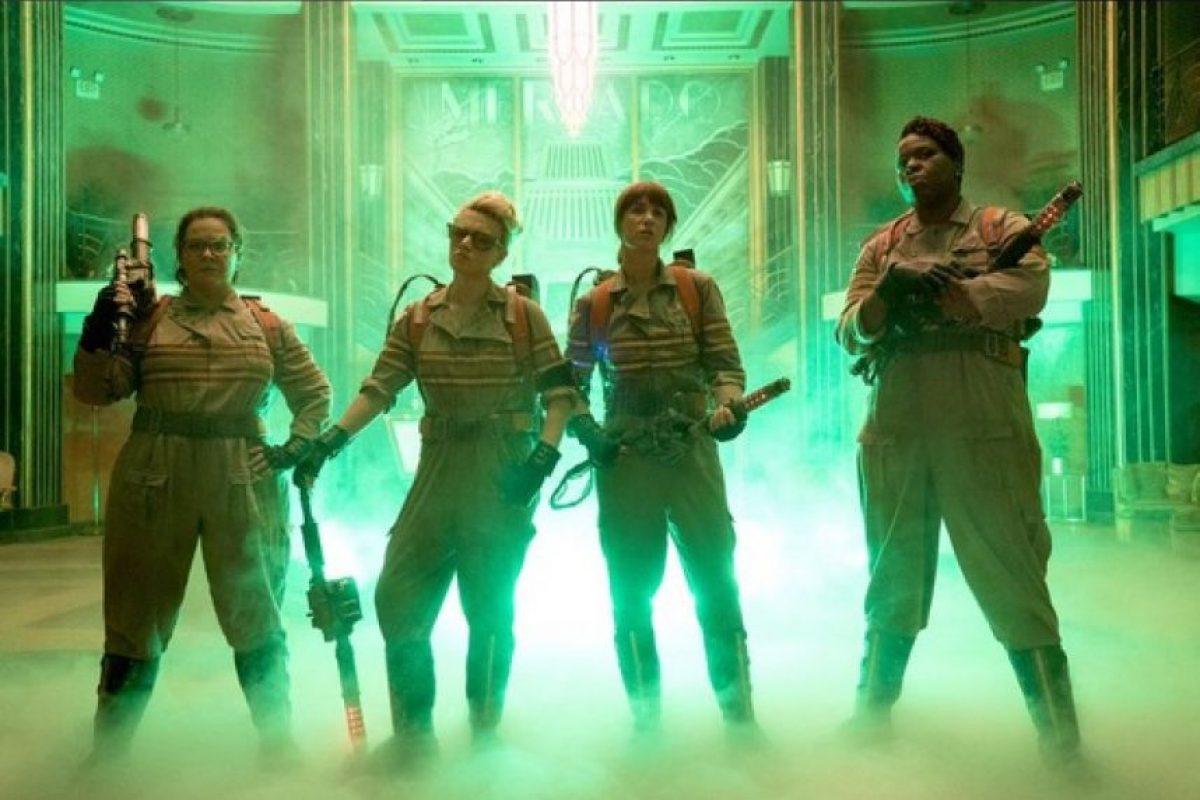 """Melissa McCarthy, Kristen Wiig, Leslie Jones y Kate McKinnon son el equipo de """"Las Cazafantasmas"""". Foto:Twitter/SonyPictures"""