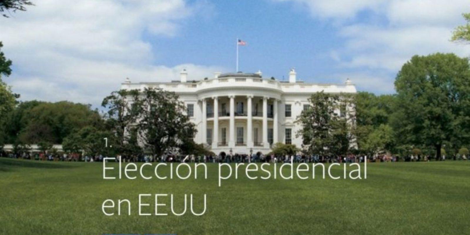 1- Elección presidencial en Estados Unidos. Foto:vía facebook.com