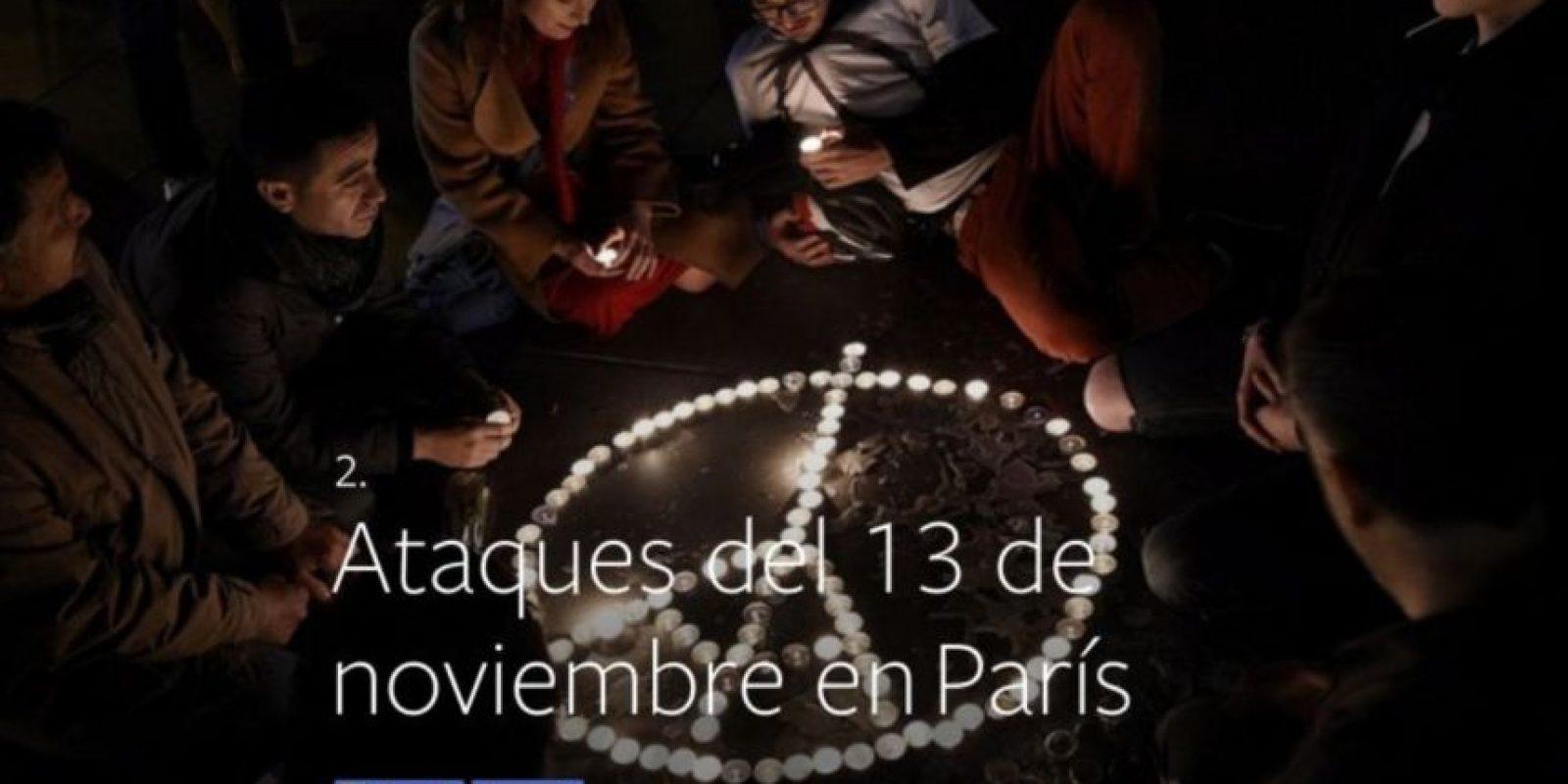 2- Ataques terroristas del 13 de noviembre en París. Foto:vía facebook.com
