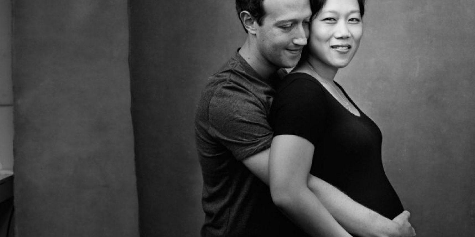 Mark y Priscilla durante el embarazo. Foto:facebook.com/zuck