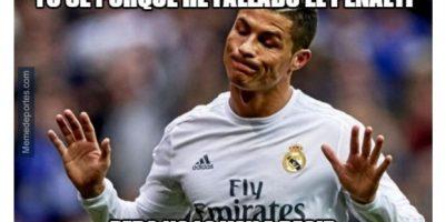 Cristiano Ronaldo falló un penal y así se burlan en Internet