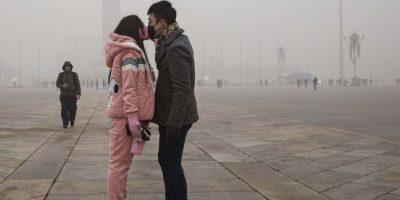 La concentración de partículas PM2.5 (las más peligrosas por su capacidad de infiltrarse a los pulmones) llegaban a los 334 microgramos por metro cúbico de aire Foto:Getty Images