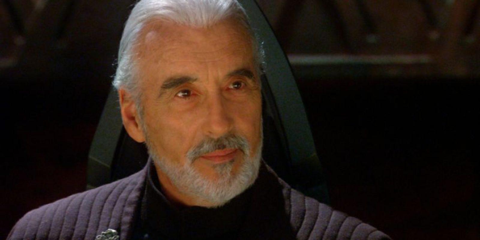 Christopher Lee interpretó al Conde Dooku. Foto:vía 20th Century Fox