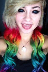 Pelo arcoíris. Foto:vía Instagram