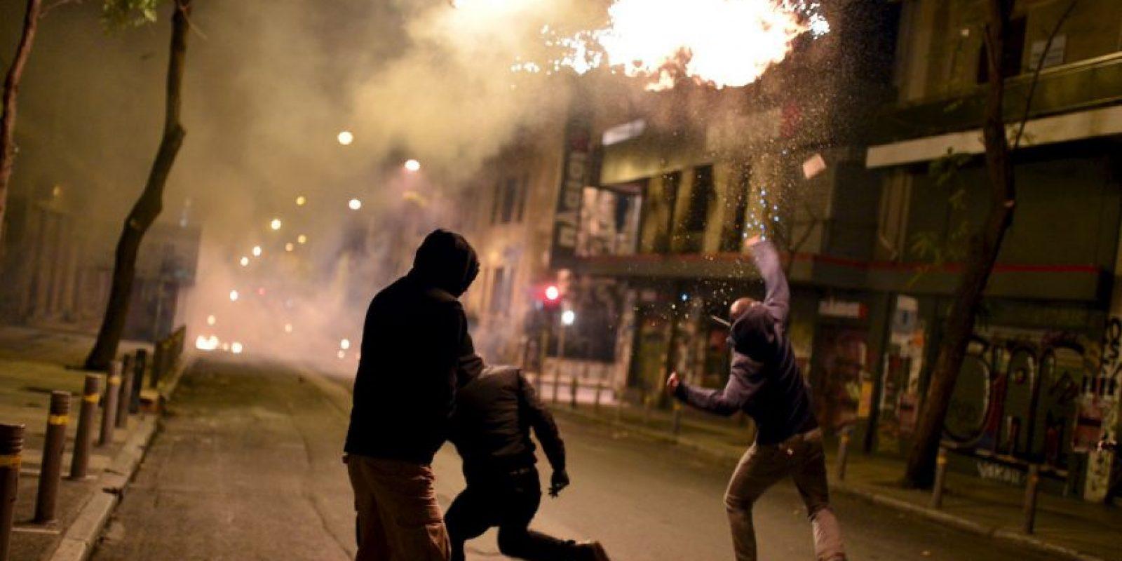 Manifestantes en Grecia. Foto:AFP