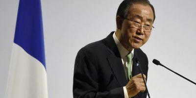 Ban ki-Moon, Secretario General de las Naciones Unidas Foto:AFP