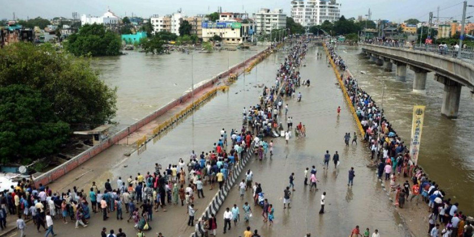 Chennai recibió el miércoles más del doble de la cantidad de lluvia que normalmente se precipita en diciembre. Foto:AFP