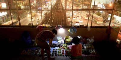 Vendedor de vegetales en Manila, Filipinas. Foto:AFP
