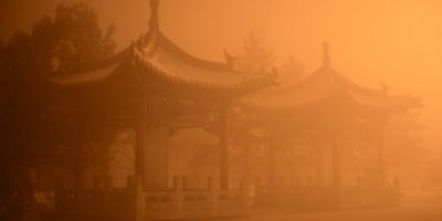 Contaminación en China. Foto: AFP