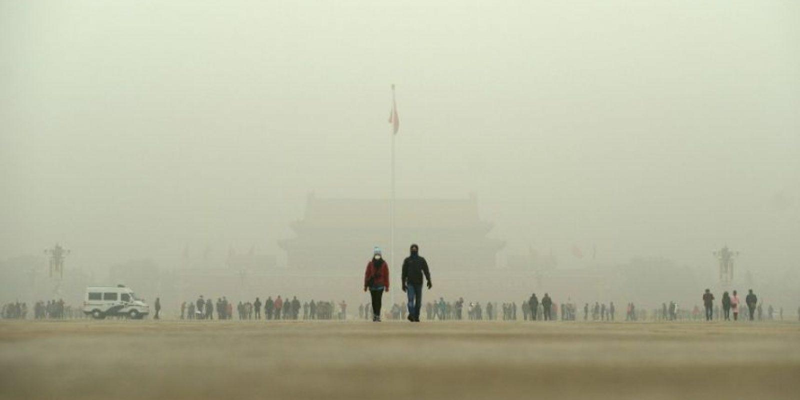 Así lucen hoy zonas como la Plaza de Tiananmén Foto:AFP