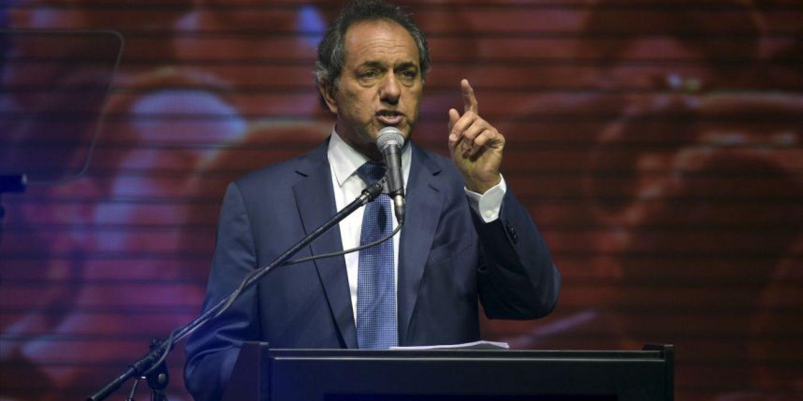 Scioli obtuvo el 36.6% de los votos Foto:AFP