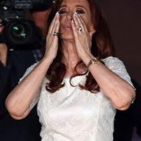Ella ayer tuvo su último evento con simpatizantes como presidenta Foto:AFP