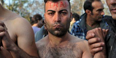 Protesta de iraníes a favor de los migrantes y refugiados. Foto:AFP