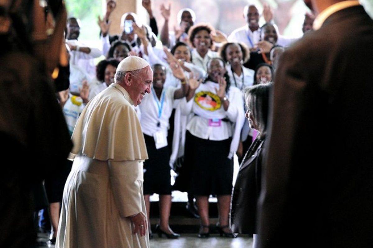 Esta es la primera vez que visita África. Foto:AFP
