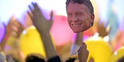 Durante el primer balotaje de Argentina. Foto:AFP