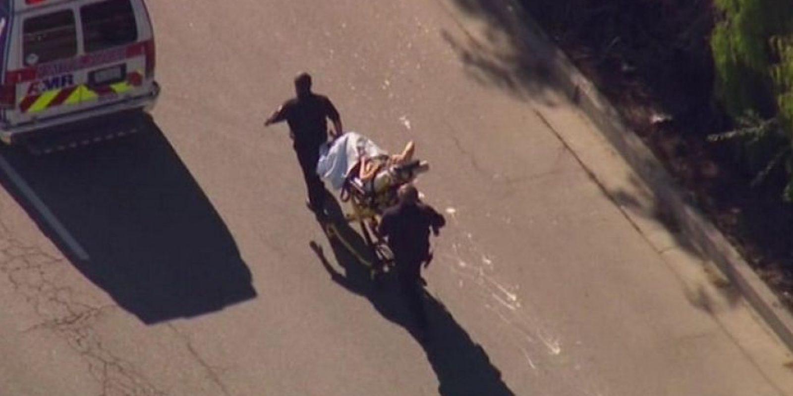 Los heridos están siendo trasladados al Centro Médico Universitario Loma Linda. Foto:AFP