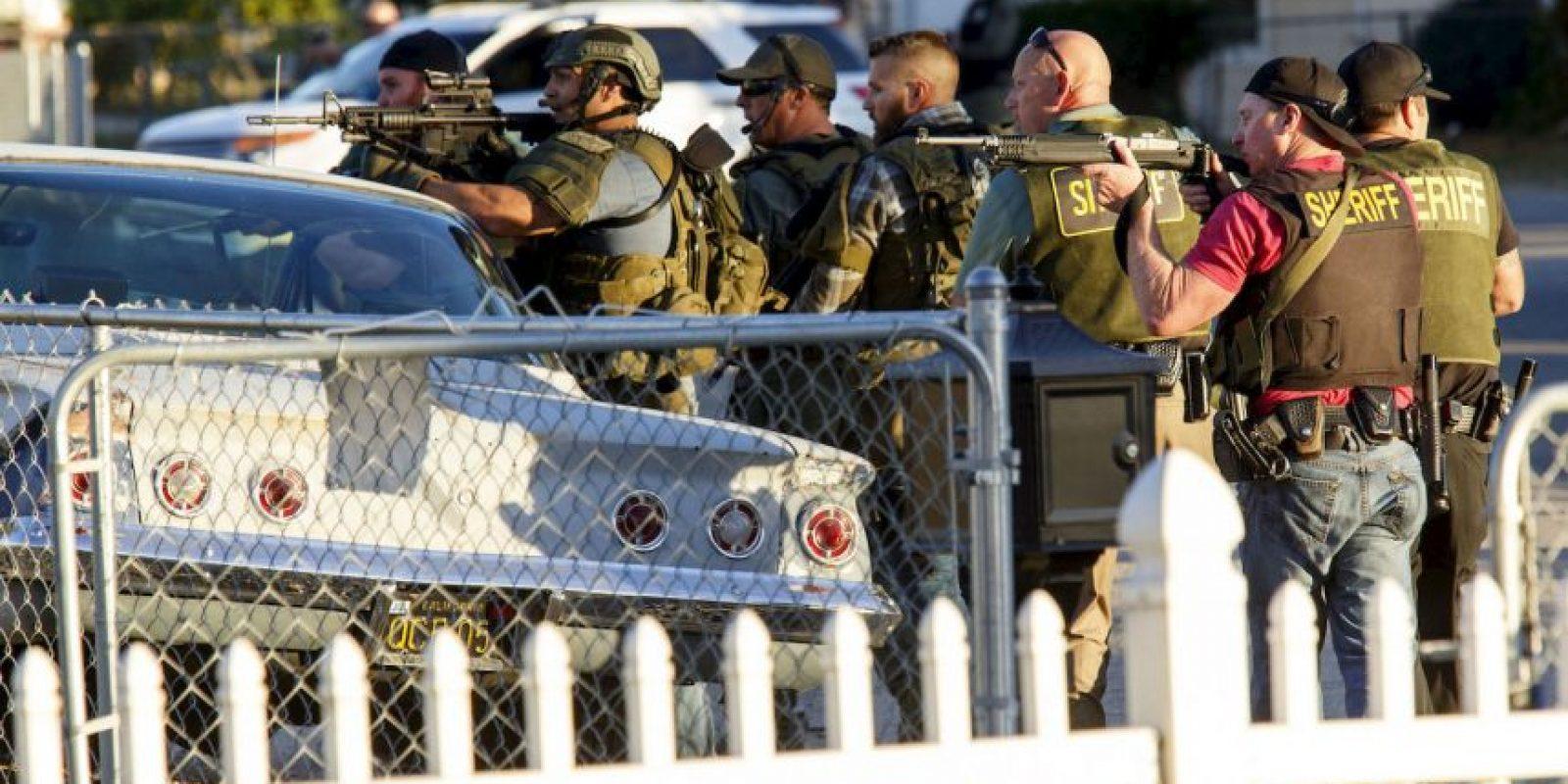La Policía abatió a los dos atacantes. Foto:AFP