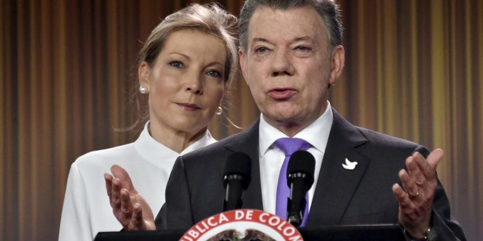 Así vivió Colombia el galardón para Juan Manuel Santos Foto:AFP