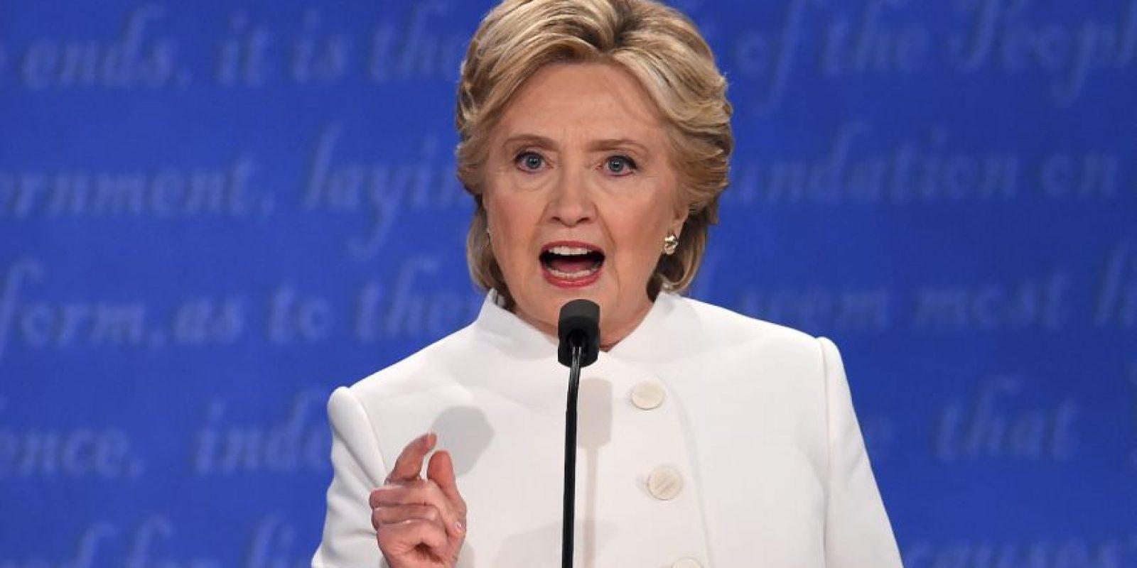 Cinco fotos destacadas del tercer debate presidencial Foto:AFP