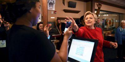 Hillary Clinton tuvo un evento en Cleveland, Ohio. Visitó un restaurante Foto:AFP