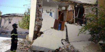 Ocurrió cuatro días después de los dos terremotos 5.5 y 6.1 Foto:AFP