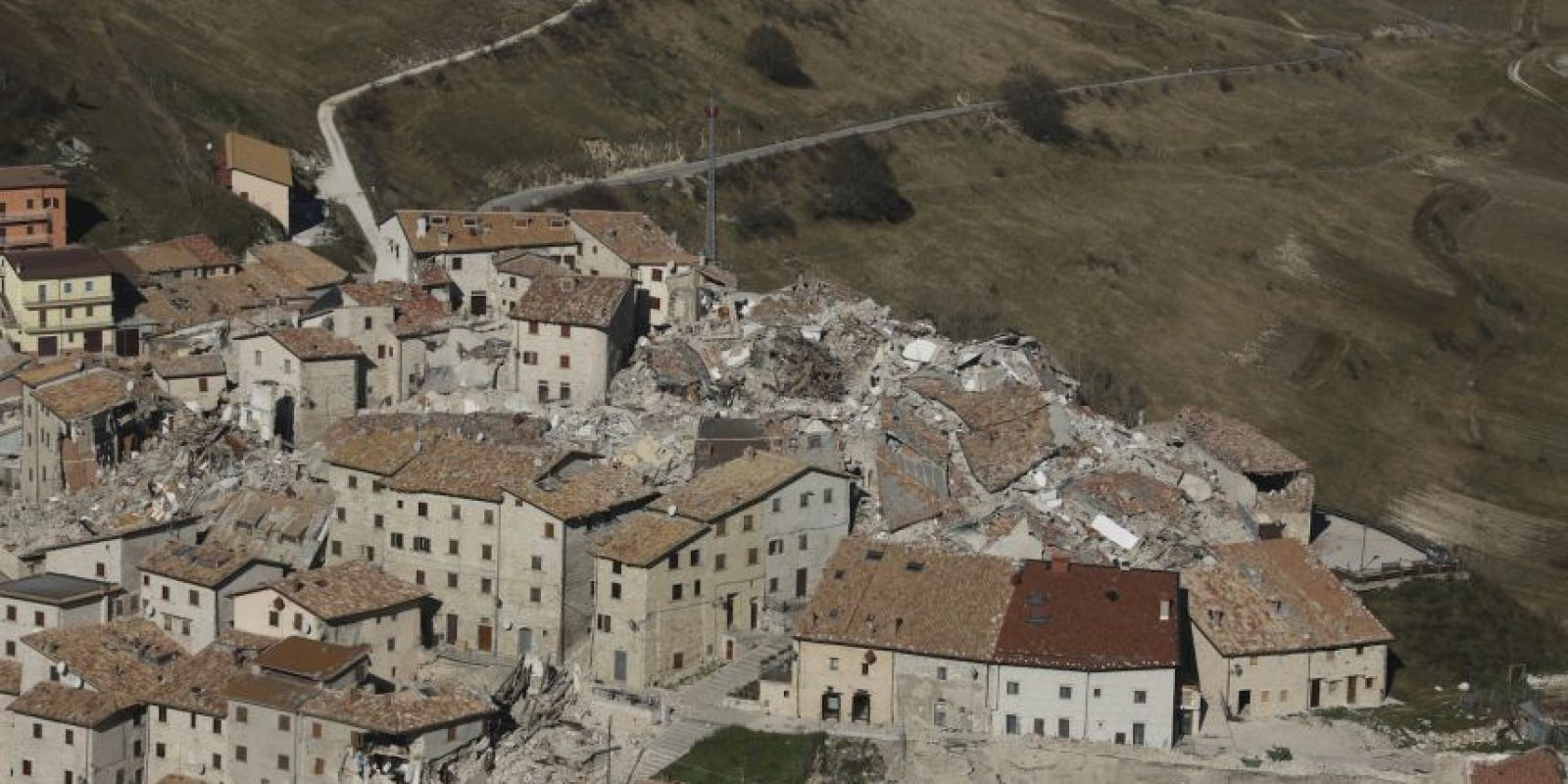 Así quedó el pueblo de Castelluccio Foto:AFP