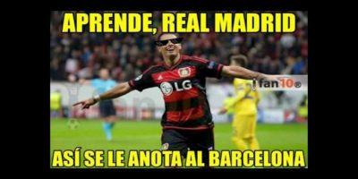 Eso sí. Le marcó un gol al Barcelona. Foto:memedeportes.com