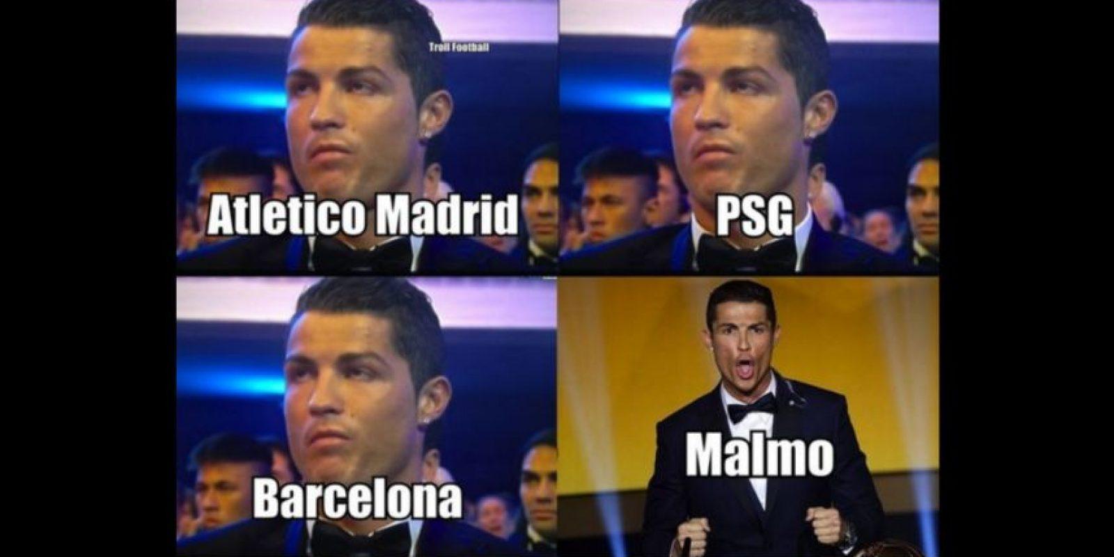 Y en redes sociales aún se acuerdan de la goleada del Real Madrid sobre Malmo. Foto:Vía twitter.com