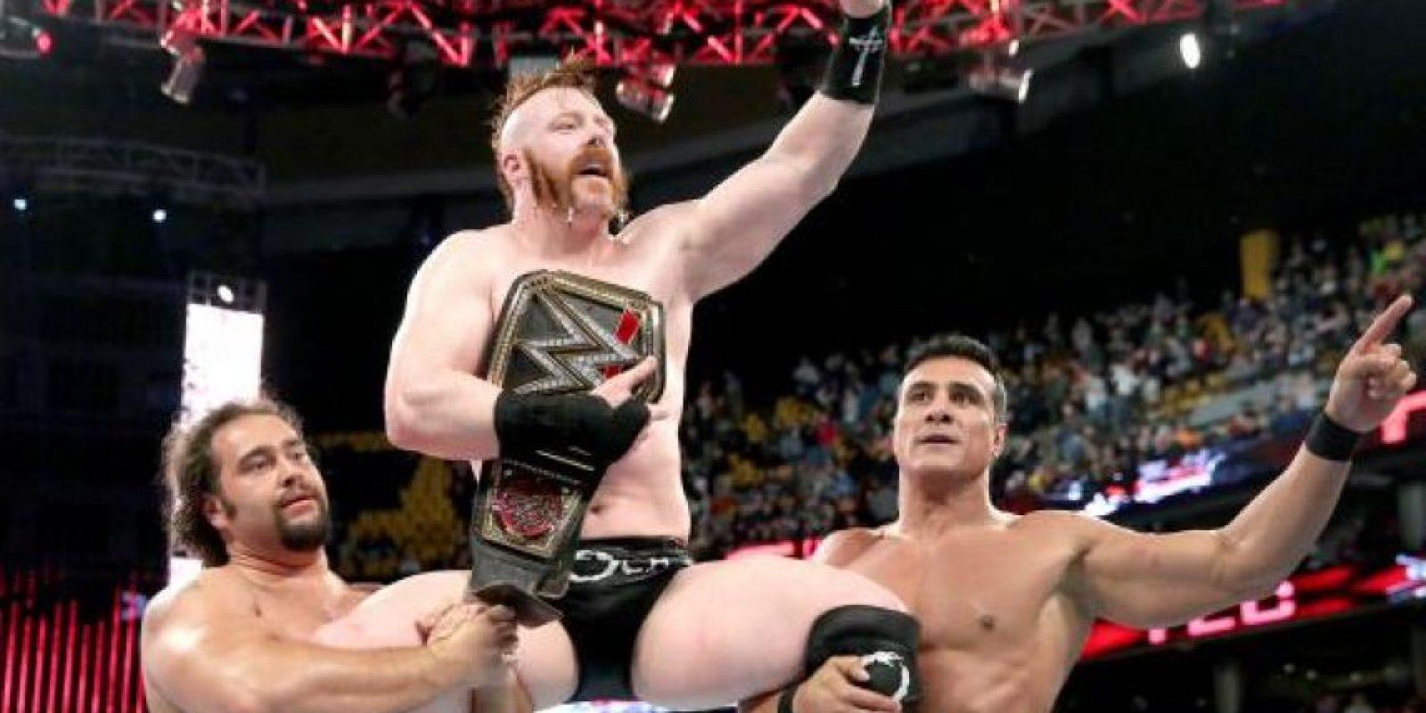 """La Liga de las Naciones celebró el trunfo del """"Guerrero Celta"""". Foto:WWE"""