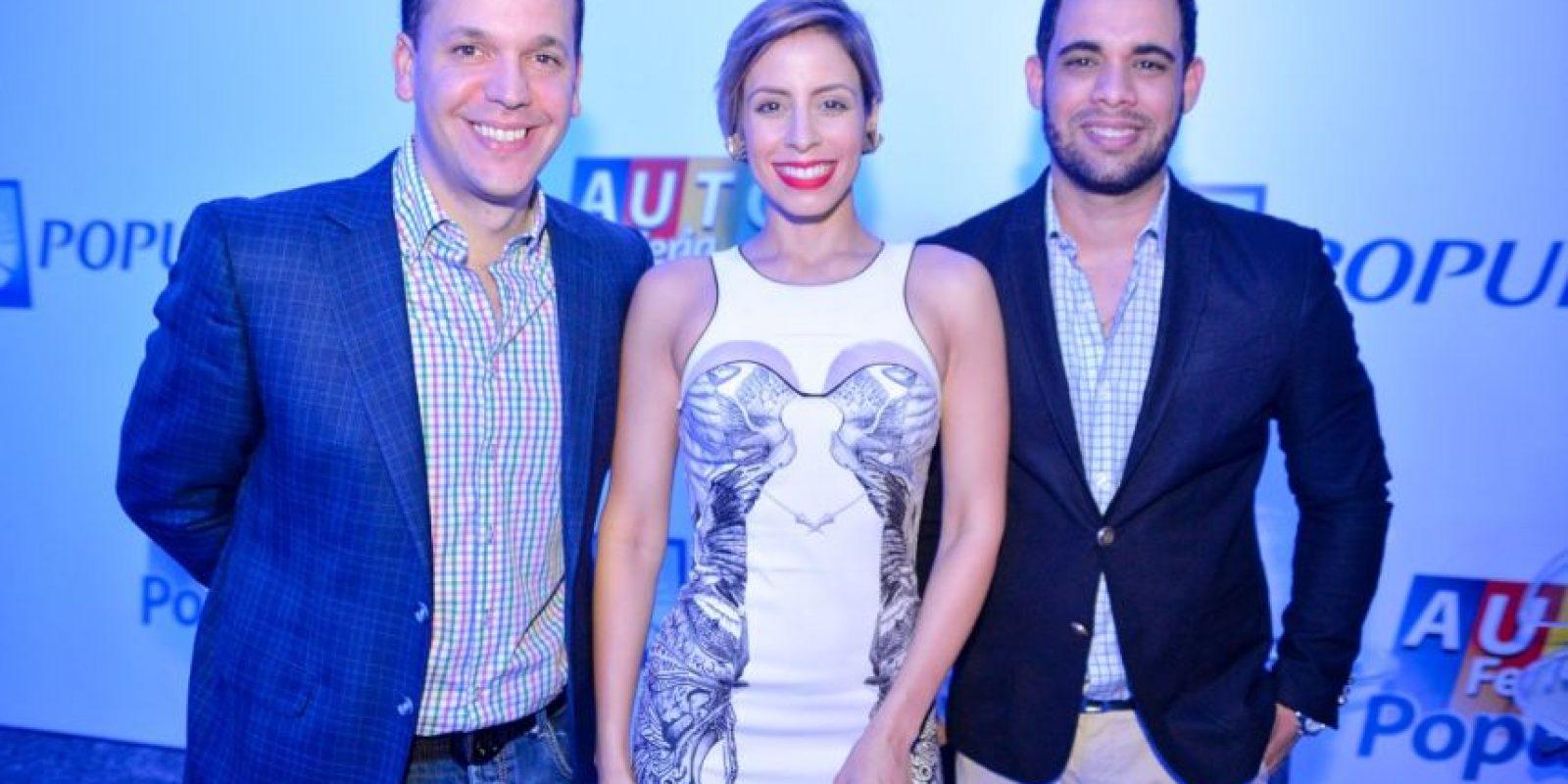 Hugo Beras, María Alejandra Guzmán y Albert Mena
