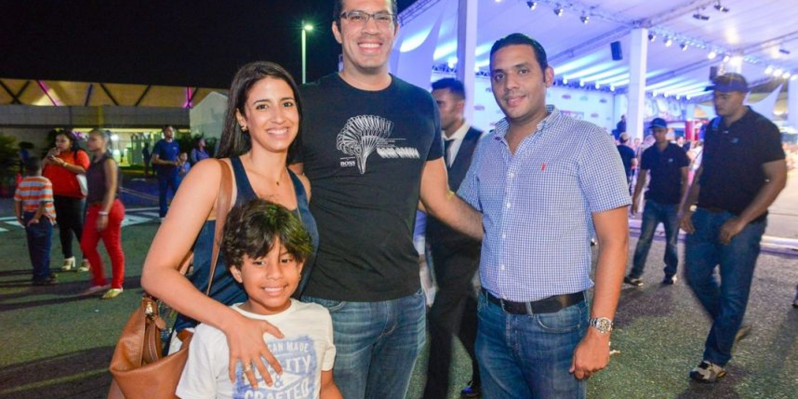 Nilda Soler, Emilio Reyes, Magno Reyes y Franklin Franco