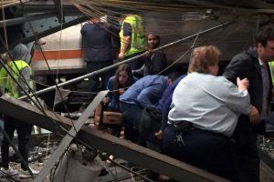 Imagen del accidente en tren de Nueva Jersey Foto:Fuente Externa