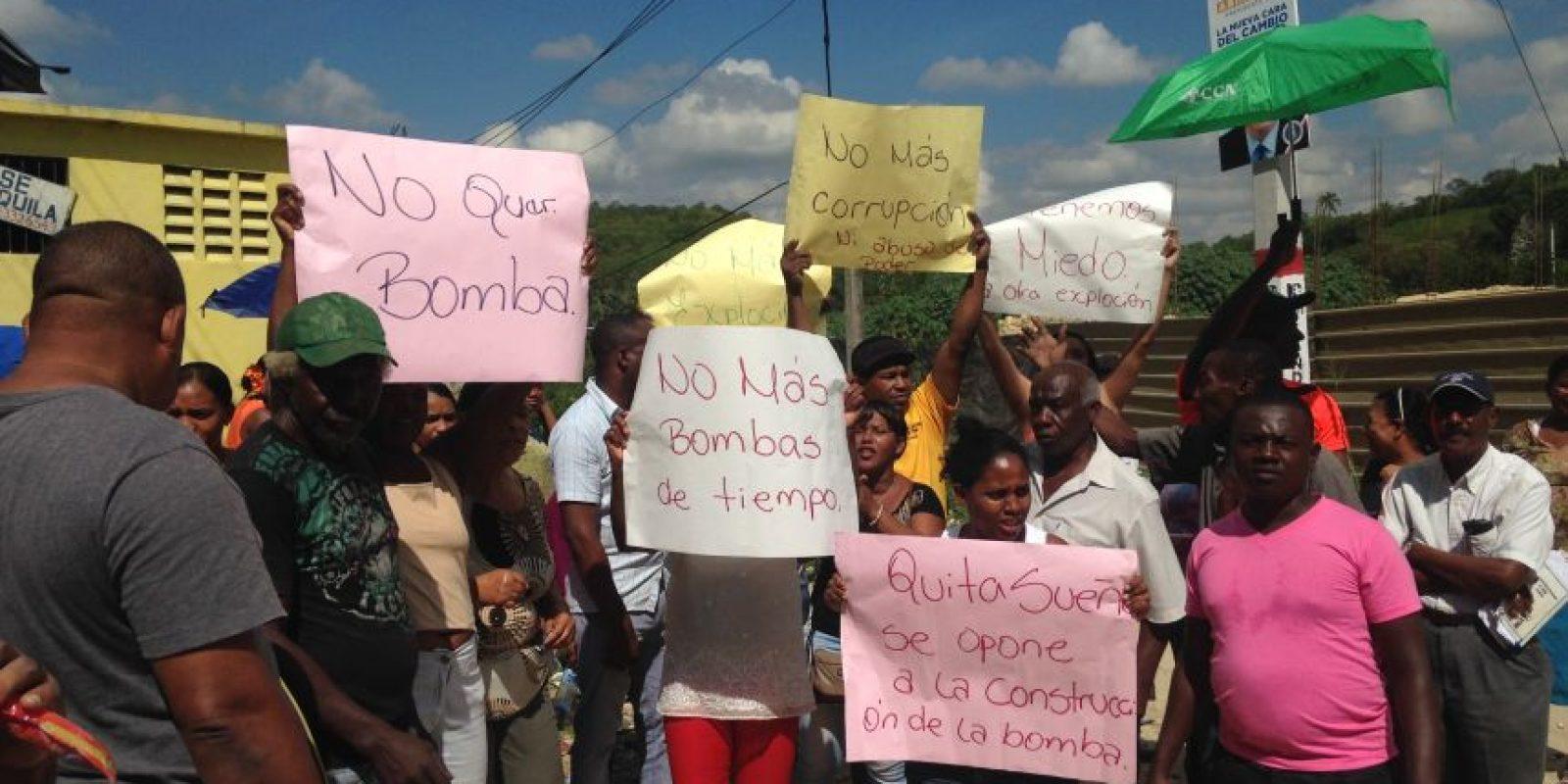 Moradores de Quita Sueño no aceptan la construcción de otra estación de combustible. Foto:Cortesía de Shane Doñé