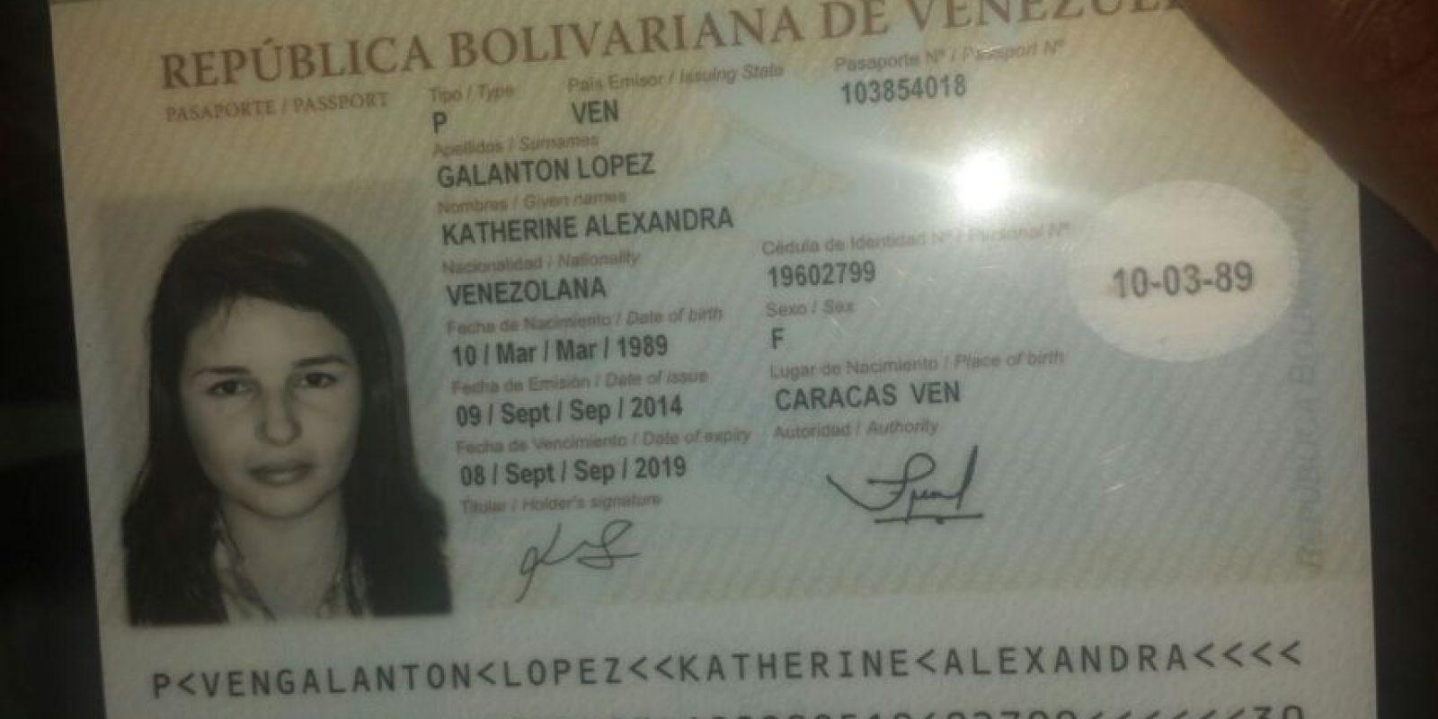 La joven tiene identidad venezolana Foto:Fuente Externa