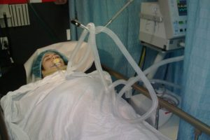 Joven herida en accidente Foto:Fuente Externa