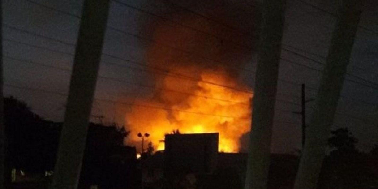 En datos preliminares se habló de 40 familias afectadas por la supuesta fuga de gas. Foto:Fuente externa
