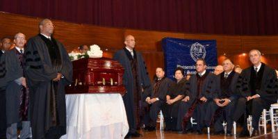 Homenaje al exrector Mateo Aquino Febrillet en la UASD Foto:Mario de Peña