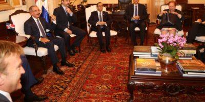 Funcionarios de RD y EEUU reunidos en el Palacio Nacional Foto:Fuente Externa
