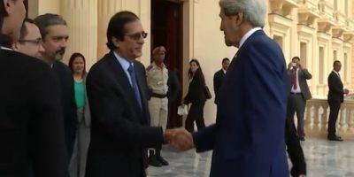 VIDEO: Así fue la visita de John Kerry al Palacio Nacional