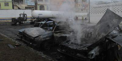 La explosión se registró a las 6:10 de la madrugada de ayer en el sector La Esperanza de Los Ríos. Foto:Roberto Guzmán