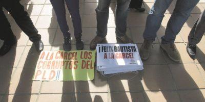 No faltaron las expresiones de rechazo a sentencias benignas ante supuestos hechos de corrupción. Foto:Roberto Guzmán