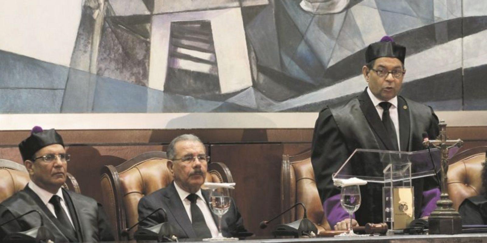 El acto cumbre tuvo lugar en la Sala Augusta de la Suprema Corte de Justicia, con el discurso de Mariano Germán. Foto:Roberto Guzmán