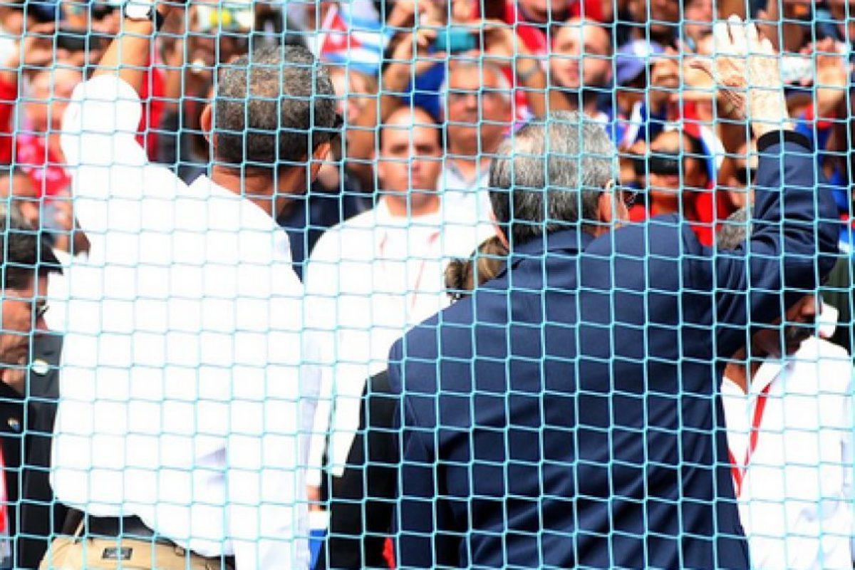 Obama y Castro en el Estadio Latinoamericano Foto:Fuente Externa