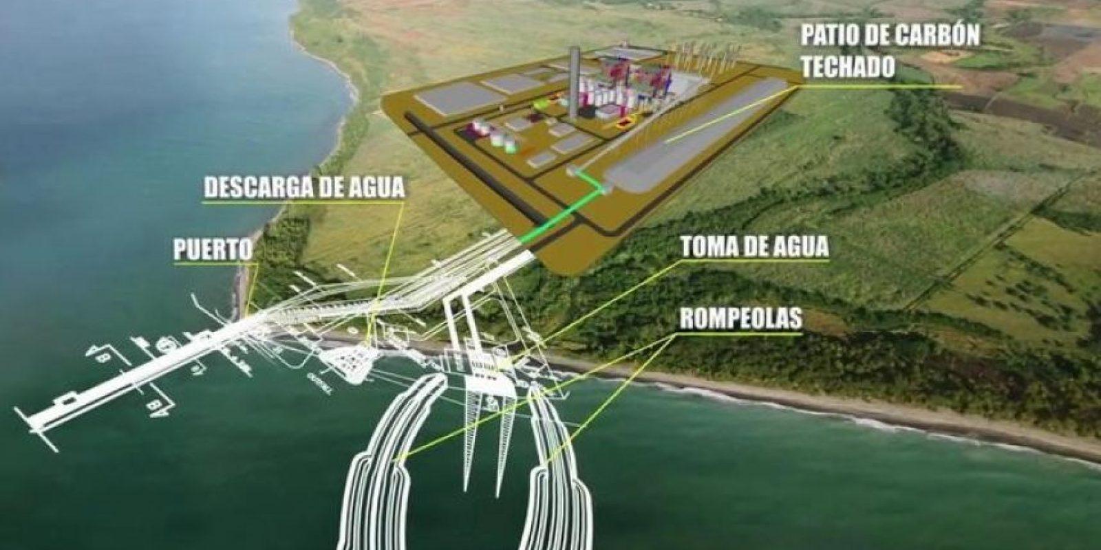 Maqueta del proyecto termoeléctrico en Punta Catalina, Baní, en la provincia Peravia. Foto:Fuente externa