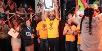 Momento de gran alegría: RD ganó el récord del mojito más grande. Foto:Elvys Joe