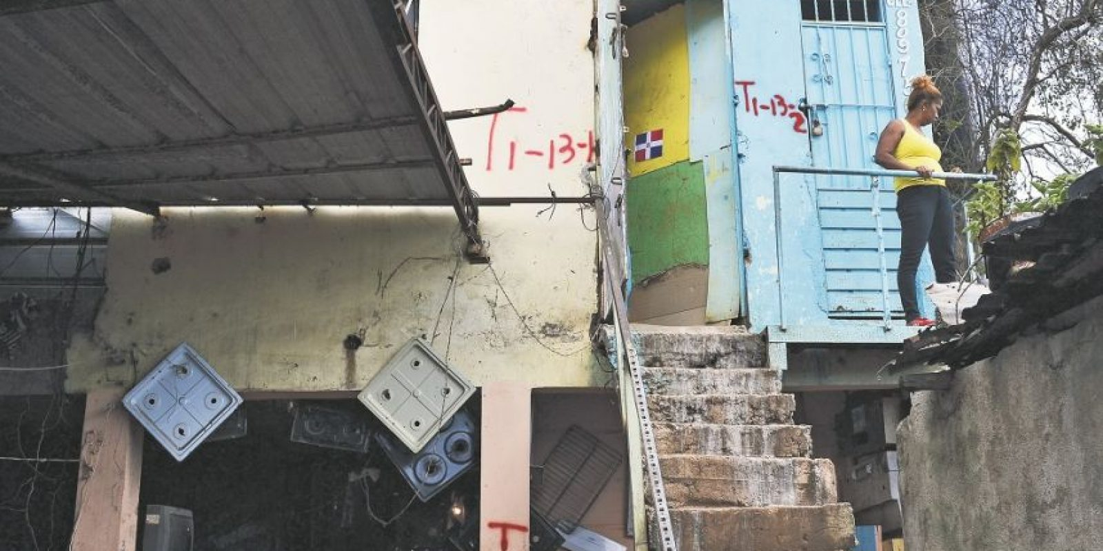 """Tres de los establecimientos marcados con la letrra """"T"""" que serán demolidos. Foto:MARIO DE PEÑA"""