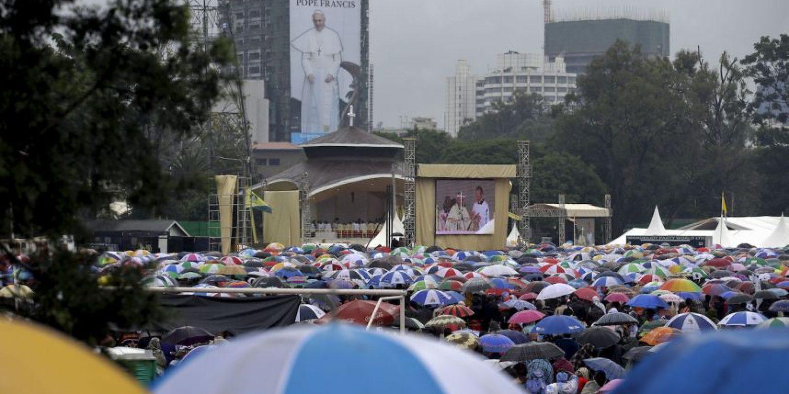 Algunos de los asistentes habían hecho fila desde la madrugada. Foto:AP