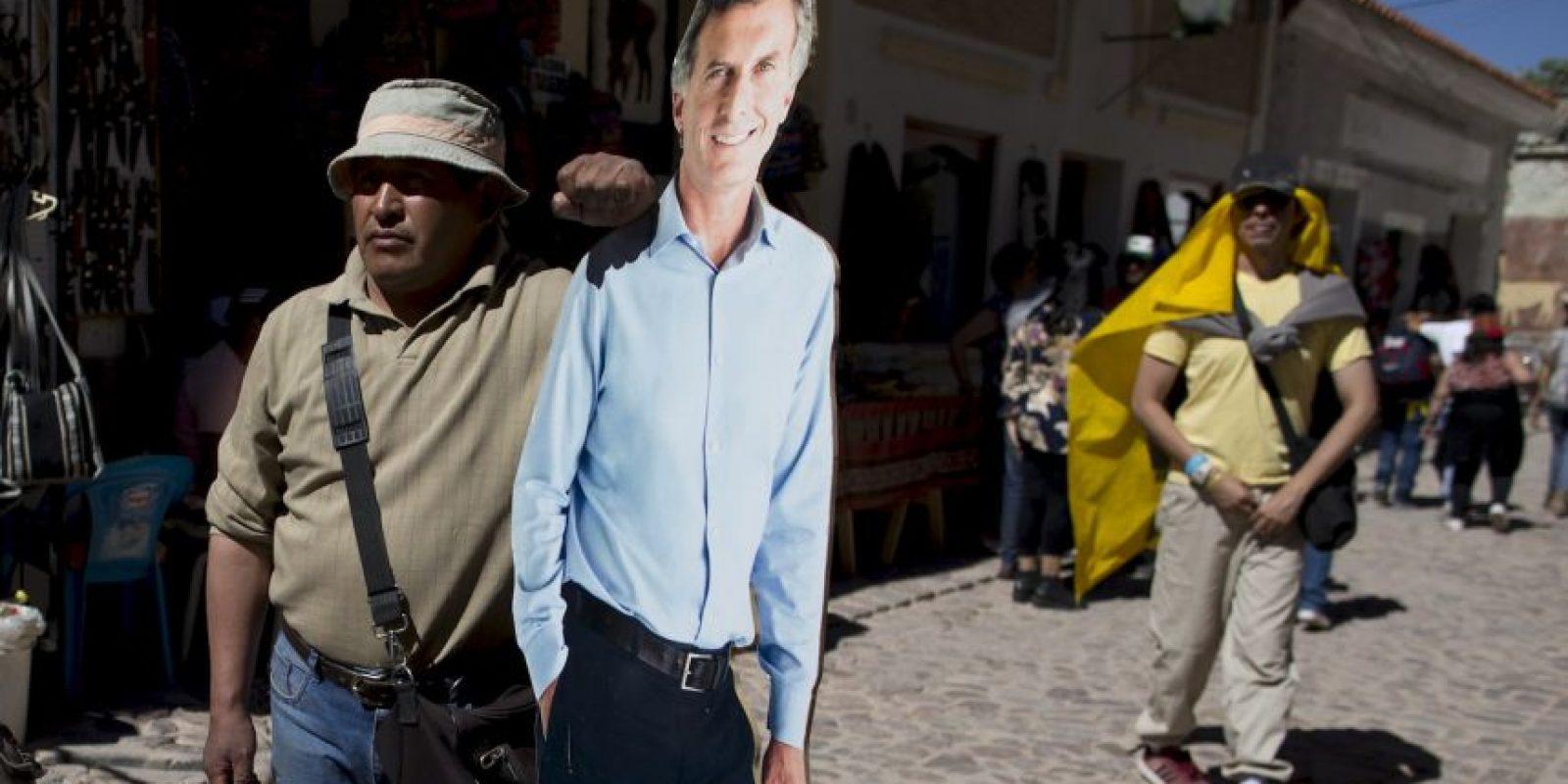 Mientras que Macri llegó al 34.5% Foto:AP