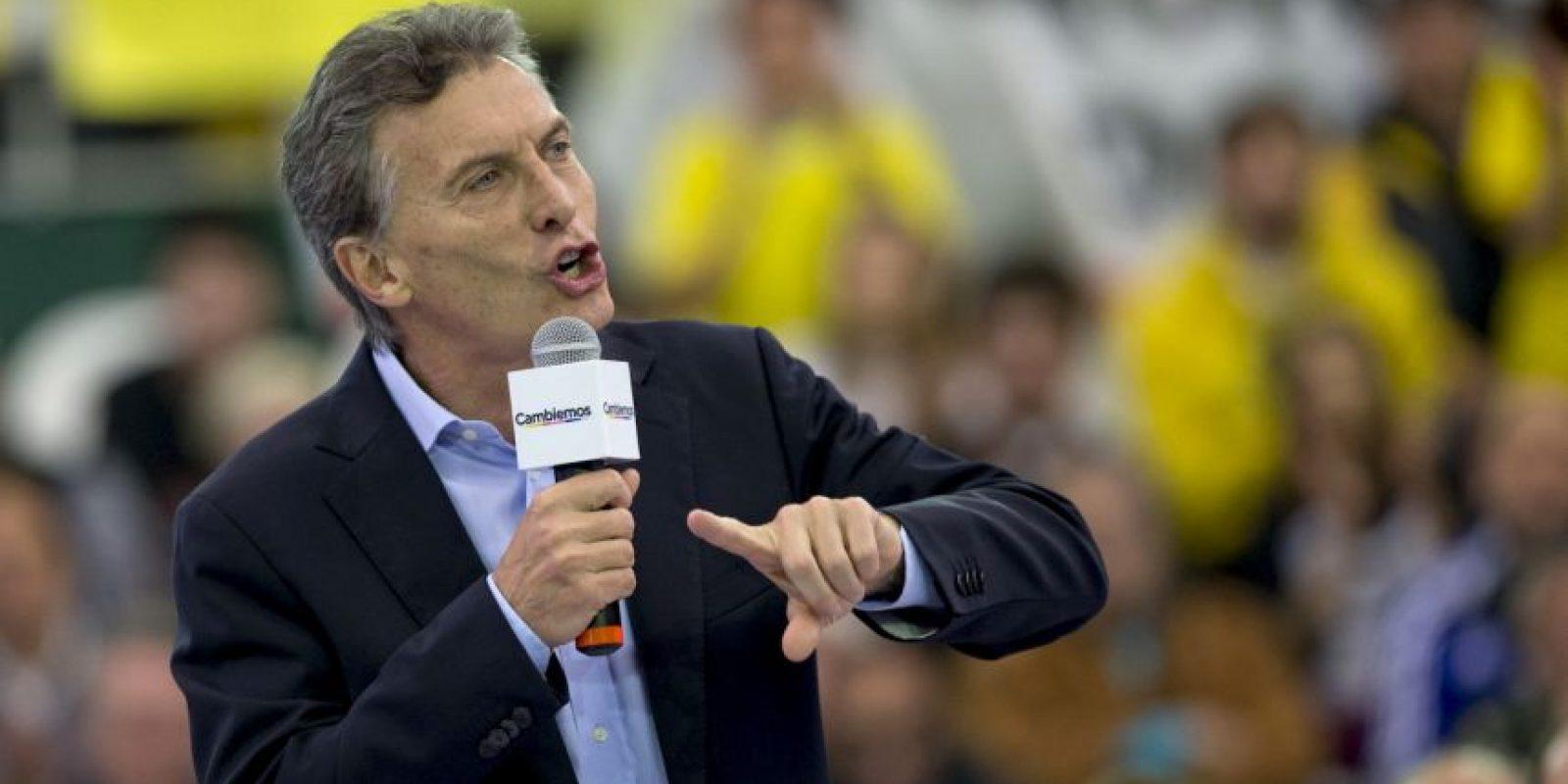 El candidato opositor Mauricio Macri, lidera la intención de voto para el balotaje Foto:AP